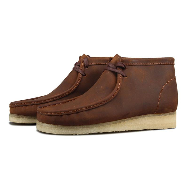 CLARKS BEESWAX WALLABEE BOOT