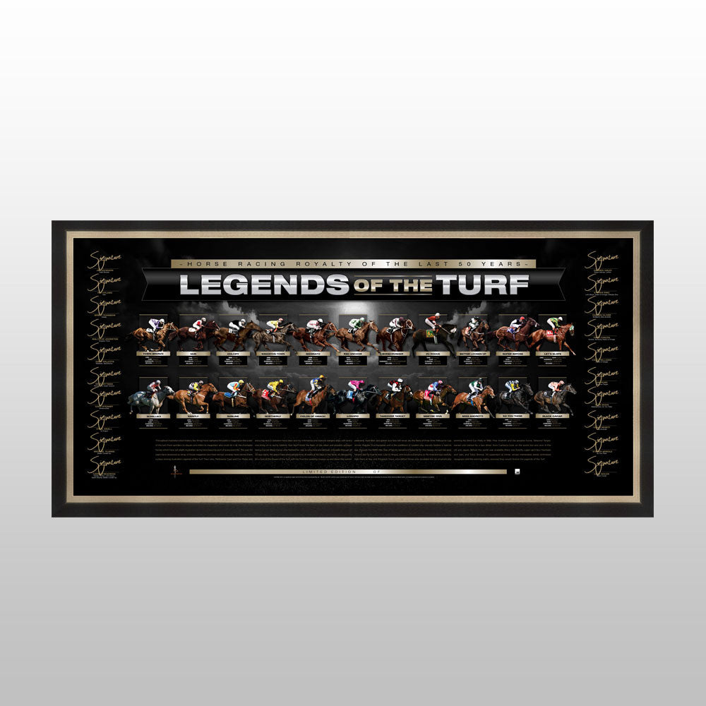 Legends of the Turf- Deluxe signed lithograph