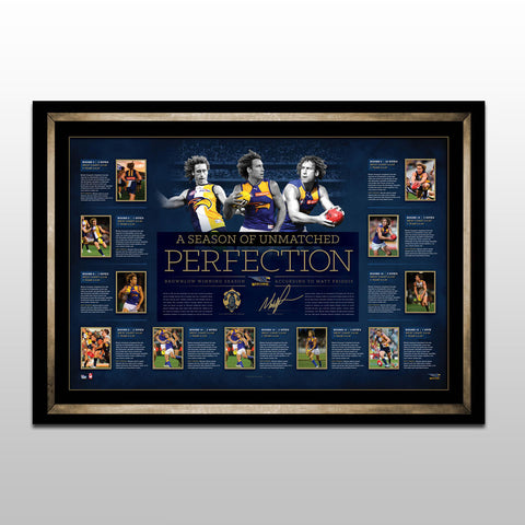 A Season Of Unmatched Perfection – Matt Priddis Signed Brownlow Lithograph