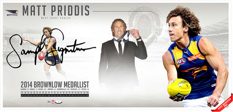 2014 Brownlow Medallist - Matt Priddis - Sportsprint