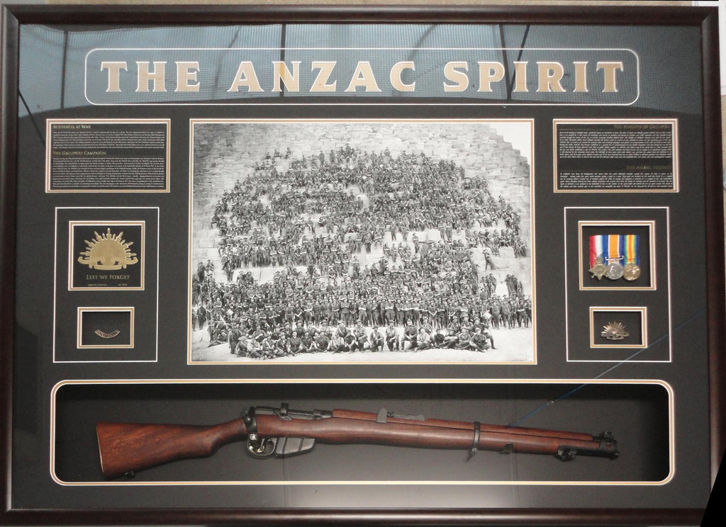 ANZAC PIECE WITH REPLICA 303
