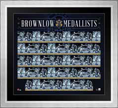 90 Years of the Brownlow Medal Historical Frame