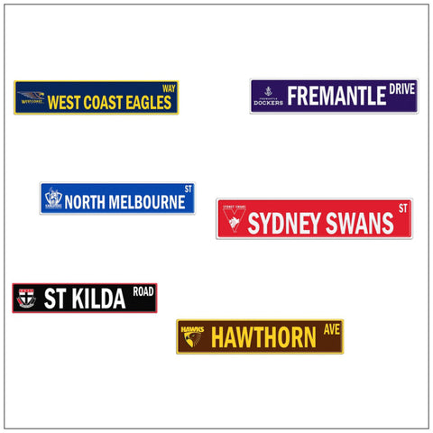 AFL Tin Street Signs