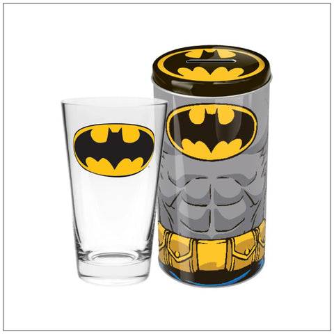 Batman Collector Glass in Tin