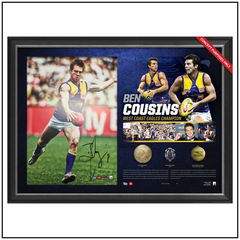 BEN COUSINS SIGNED CAREER RETROSPECTIVE LITHOGRAPH