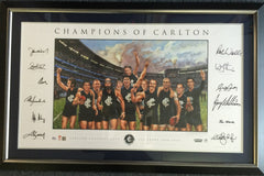 Champions of Carlton Fine Art Signed Lithograph