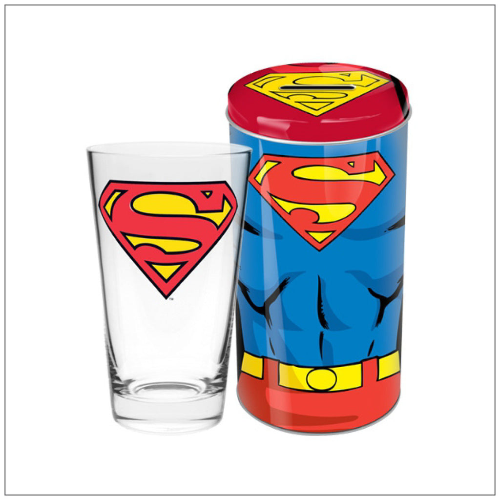 SUPERMAN Collector Glass in Tin