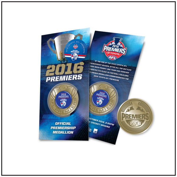 WESTERN BULLDOGS AFL 2016 Premiers Blister Pack Collectable Medallion