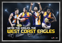 West Coast Eagles 4 Player print