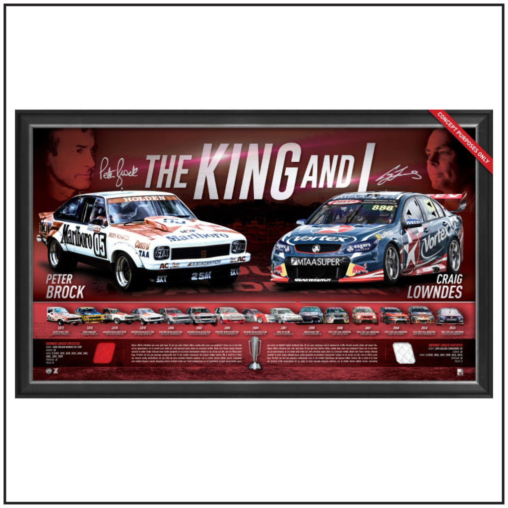 THE KING & I – A PERSONALLY SIGNED, LITHOGRAPHIC TRIBUTE TO PETER BROCK