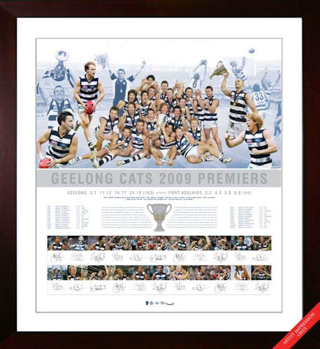 2009 Geelong AFL Premiership Team Signed Lithograph