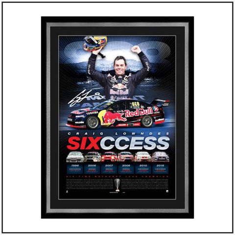 CRAIG LOWNDES 'SIX-CESS' FRAMED SIGNED LITHOGRAPH