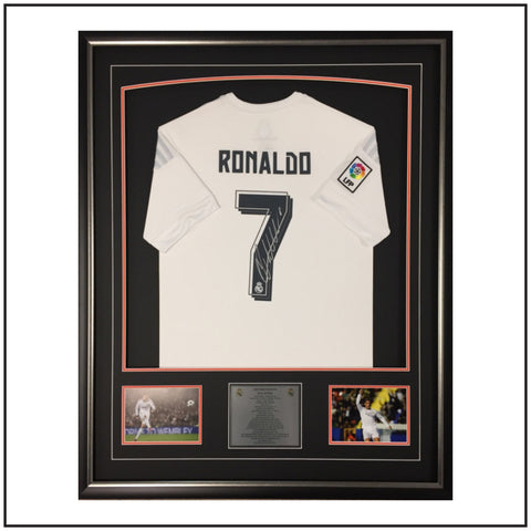 Cristiano Ronaldo Signed & Framed Shirt