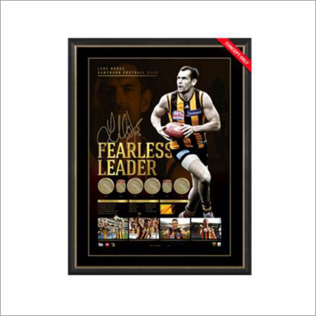 FEARLESS LEADER - LUKE HODGE CAREER RETROSPECTIVE SIGNED LITHOGRAPH