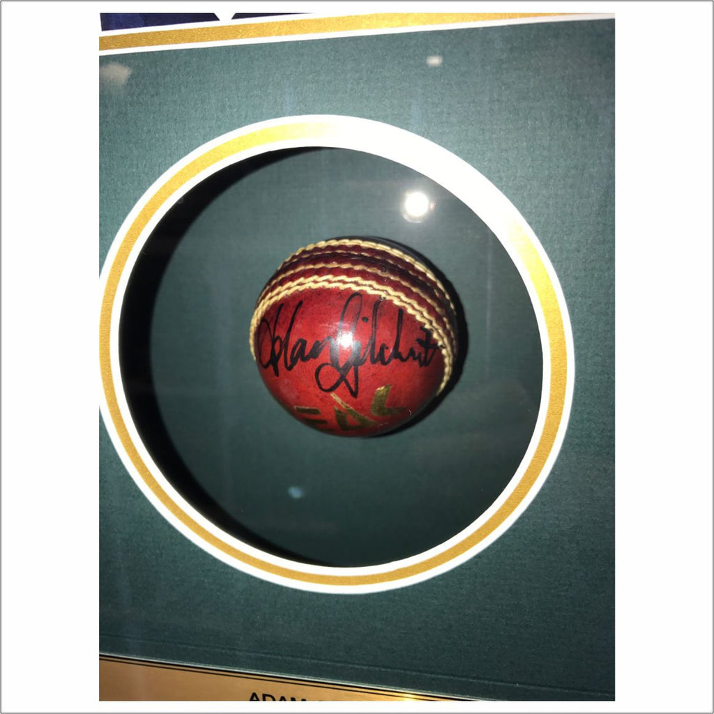 Adam Gilchrist Signed Framed Ball