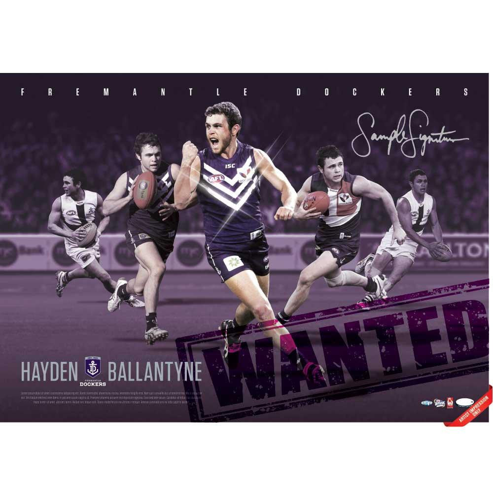Hayden Ballantyne Limited Edition Signed Framed Lithograph