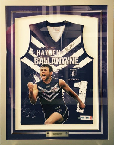 Hayden Ballantyne Signed Sublimated guernsey - Framed