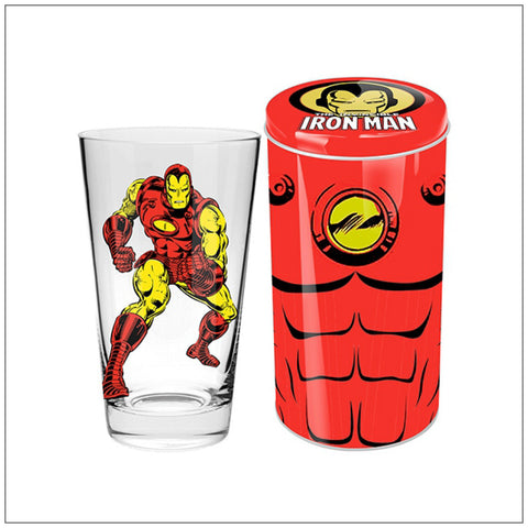 Iron Man Collector Glass in Tin