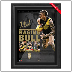 The Raging Bull – DUSTIN MARTIN 2016 JACK DYER MEDALLIST SIGNED LITHOGRAPH