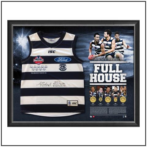 JIMMY BARTEL 'FULL HOUSE' TRIBUTE DISPLAY