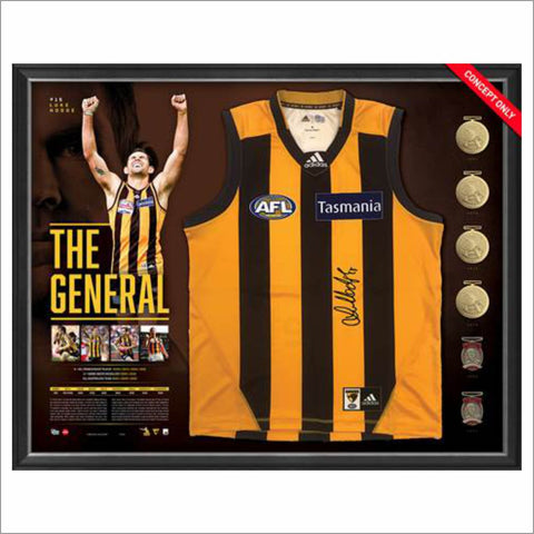 THE GENERAL - LUKE HODGE CAREER RETROSPECTIVE SIGNED GUERNSEY DISPLAY
