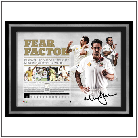 MITCHELL JOHNSON SIGNED FRAMED RETIREMENT LITHOGRAPH