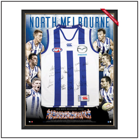 North Melbourne 2016 Team Signed Guernsey