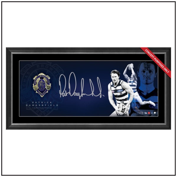 PATRICK DANGERFIELD PERSONALLY SIGNED BROWNLOW PANOGRAPH