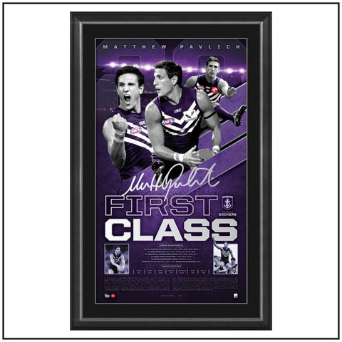 FIRST CLASS – MATTHEW PAVLICH CAREER RETROSPECTIVE SIGNED VERTIRAMIC