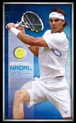 PLAYER SIGNED FRAMED TENNIS BALL - RAFAEL NADAL