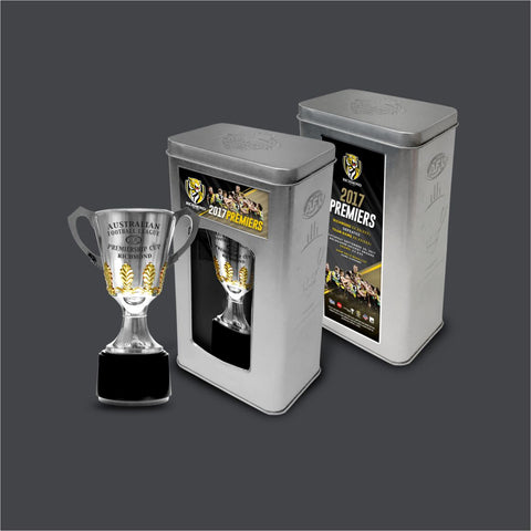 RICHMOND FOOTBALL CLUB 2017 PREMIERSHIP TROPHY IN COLLECTOR'S TIN