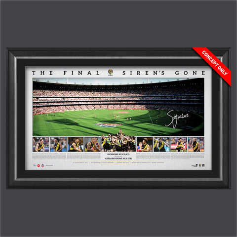 RICHMOND FOOTBALL CLUB 2017 PREMIERS SIGNED PANORAMIC