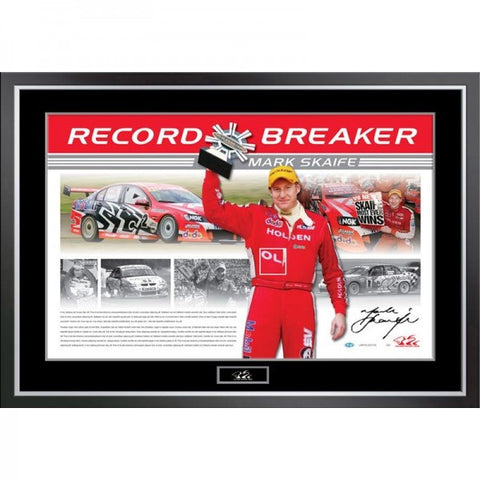 Mark Skaife Signed Record Breaker