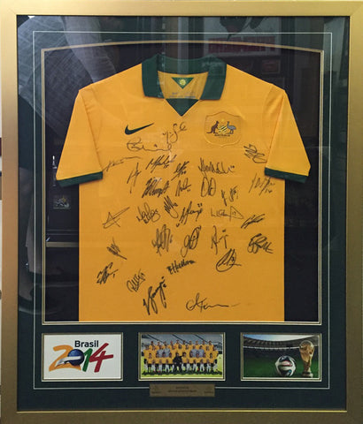 Socceroos 2014 Team signed shirt