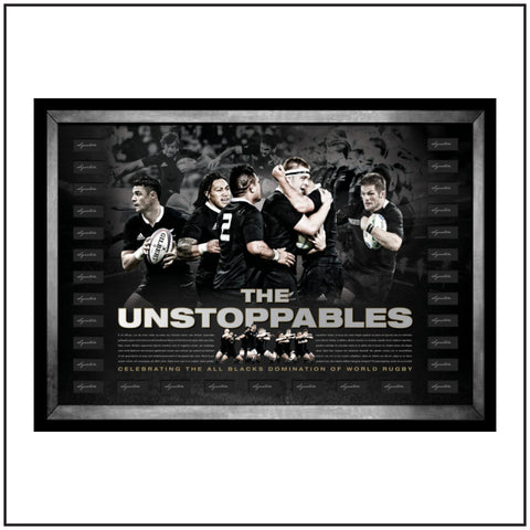 "All Black's ""The Unstoppables"" Lithograph"