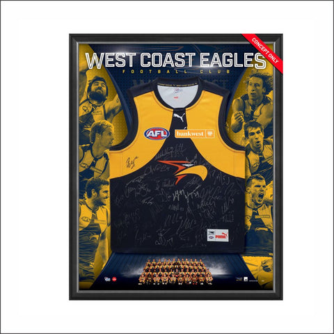 WEST COAST EAGLES 2017 TEAM SIGNED GUERNSEY