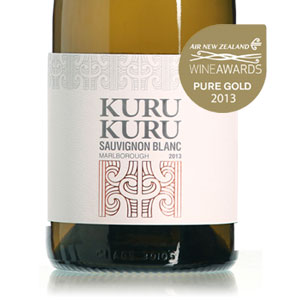 Kuru Kuru Sauvignon Blanc 2013 Gold Medal at Air New Zealand 2013 Wine Awards