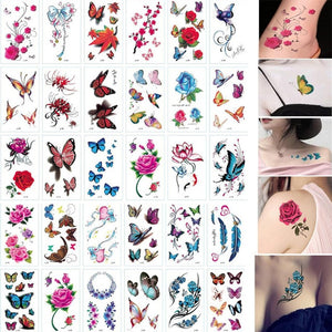 30 Sheet Cartoon Kids Tattoo