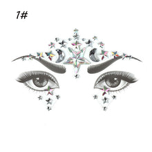 Load image into Gallery viewer, Face Jewelry Gems Festival Tattoo