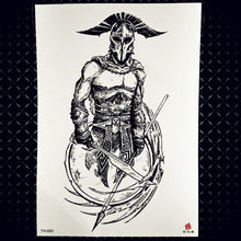 Load image into Gallery viewer, Spartan Warrior  Tattoos