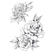Load image into Gallery viewer, Black Roses Design Full Flower Tattoo