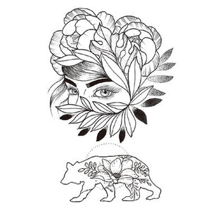 Black Roses Design Full Flower Tattoo