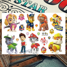 Load image into Gallery viewer, Kids 3d Cute Dog Agent Tattoo