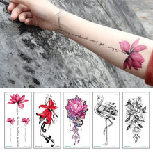 Load image into Gallery viewer, Colourful Flowers Tattoo