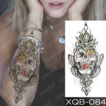 Load image into Gallery viewer, Forest Moon Flying Bird Bear Tattoo