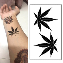 Load image into Gallery viewer, Black clover Maple Leaf Tattoo