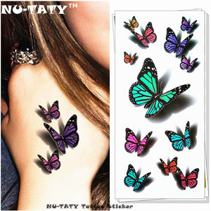 Amazing Butterfly 3d Tattoo