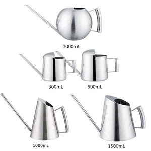 Household Stainless Steel Watering Can Kettle 300/500/1000/1500mL Garden Plant Flower Long Mouth Watering Garden Sprinkling Pot