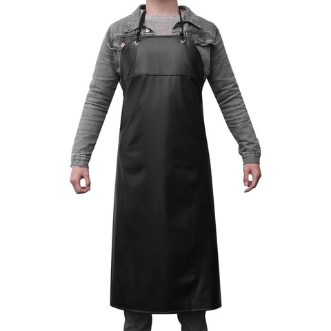 LUOEM Work Apron Heavy Duty Waterproof Anti-Oil Kitchen Apron Unisex Garden Tool for Butchers Kitchen Cooking Aprons