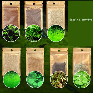 For Fish Tank Plants Decoration Aquarium Plants Aquatic Water Grass Seeds Cow-hair LOVE Lucky Seeds  Landscape Ornament 10g/30g